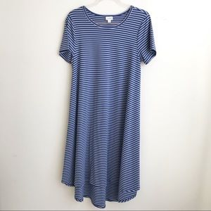 Lularoe  striped blue dress
